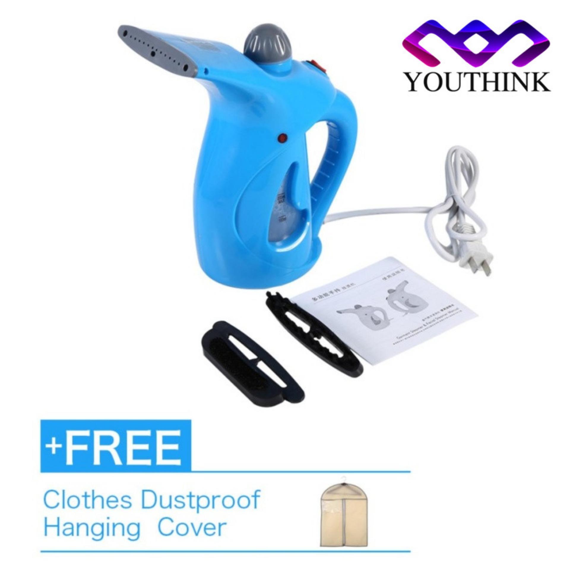 Portable Hand Iron Steam Garment Steamer Brush Blue Buy 1 Get 1 Free Clothes Dustproof Hanging Bag Intl Reviews