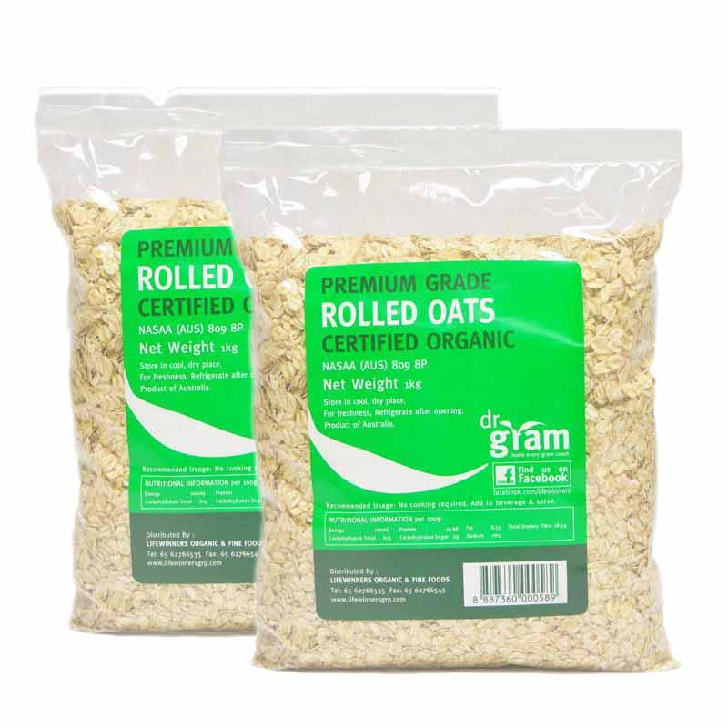 Price Dr Gram Organic Rolled Oats 1Kg 2 Packets On Singapore