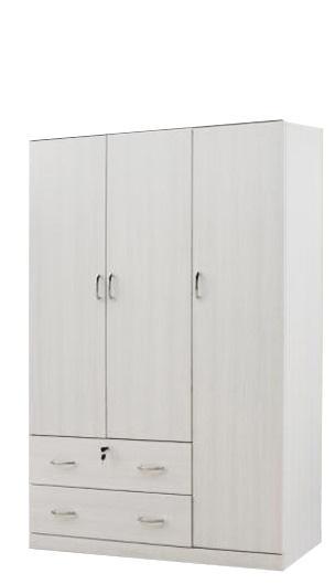 [A-STAR] 3 DOOR WARDROBE IN WALNUT & WHITEWASH
