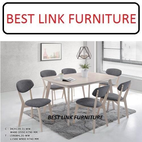 BEST LINK FURNITURE BLF Dome (1 + 6) Dining Table Set
