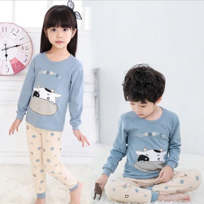 Big Kids Pyjamas /children Family Couple Pyjamas Set Up To Size 180cm Boys [pjn19] By Jolly Sg.