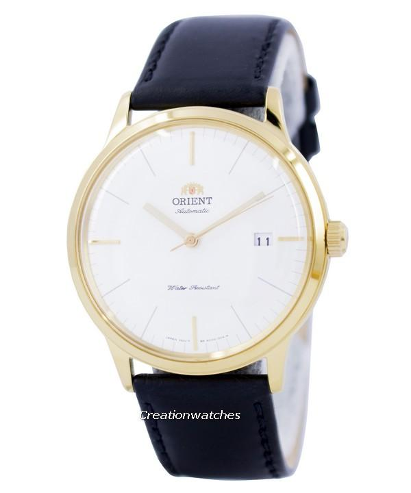 Orient 2nd Generation Bambino Classic Automatic Men's Black Leather Strap Watch FAC0000BW0