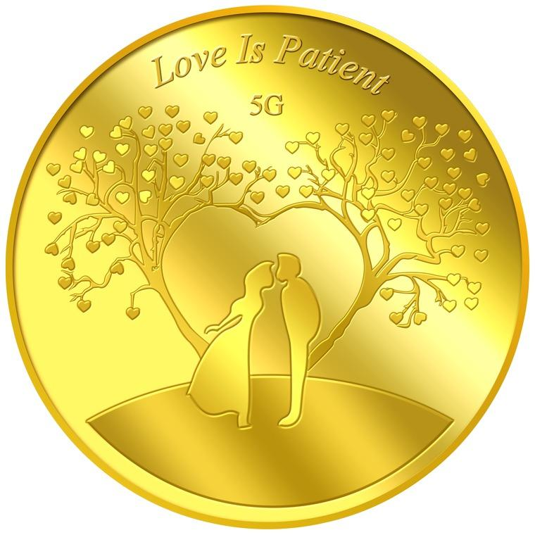 Price Puregold 5G Love Is Patient Gold Coin 999 9 Puregold New