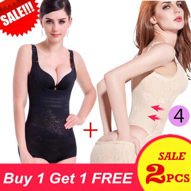 2 Pcs Women Ultraslim Corset Body Shapewear Open Bust Shaper Firm Control Shape Wear Full Body Suit Postpartum Recovery Slimming Underwear Corset Girdle Bodysuits (4) Intl In Stock