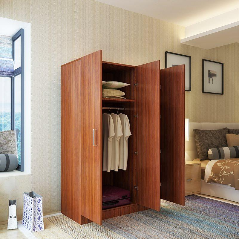 New Style Bedroom Closet Wood Easy to Assembly 2 Door 4 Door Cabinet Multi-functional Simple Economy Plate Closet