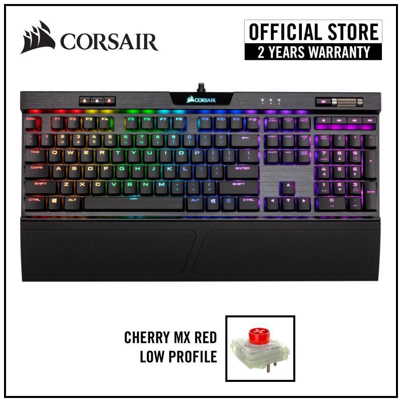Corsair K70 RGB MK.2 Low Profile Mechanical Gaming Keyboard - Cherry MX Low Profile Red RGB Singapore