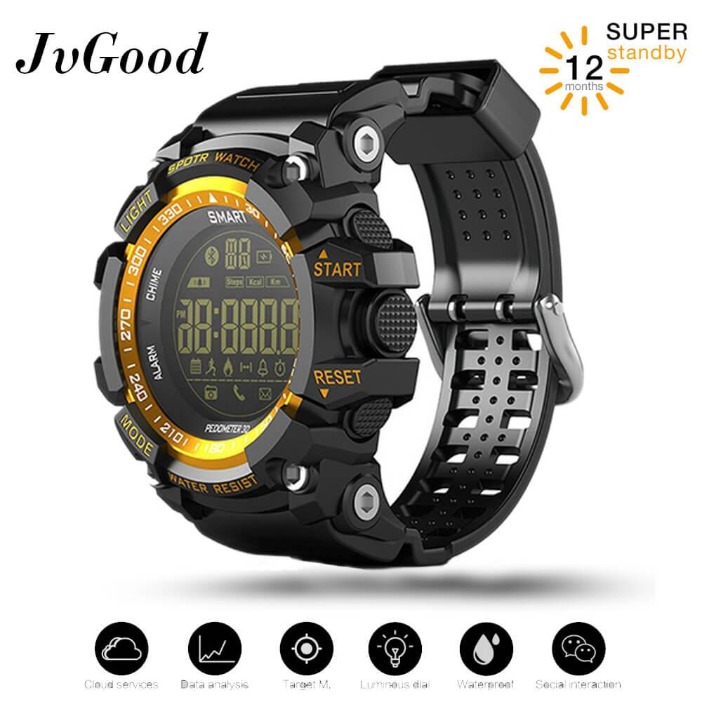 Jvgood Sports Watch Smart Bluetooth Watch Ip67 Waterproof Remote Camera Fitness Tracker Wearable Technology Running Watch For Ios And Android Smartphones By Jvgood.