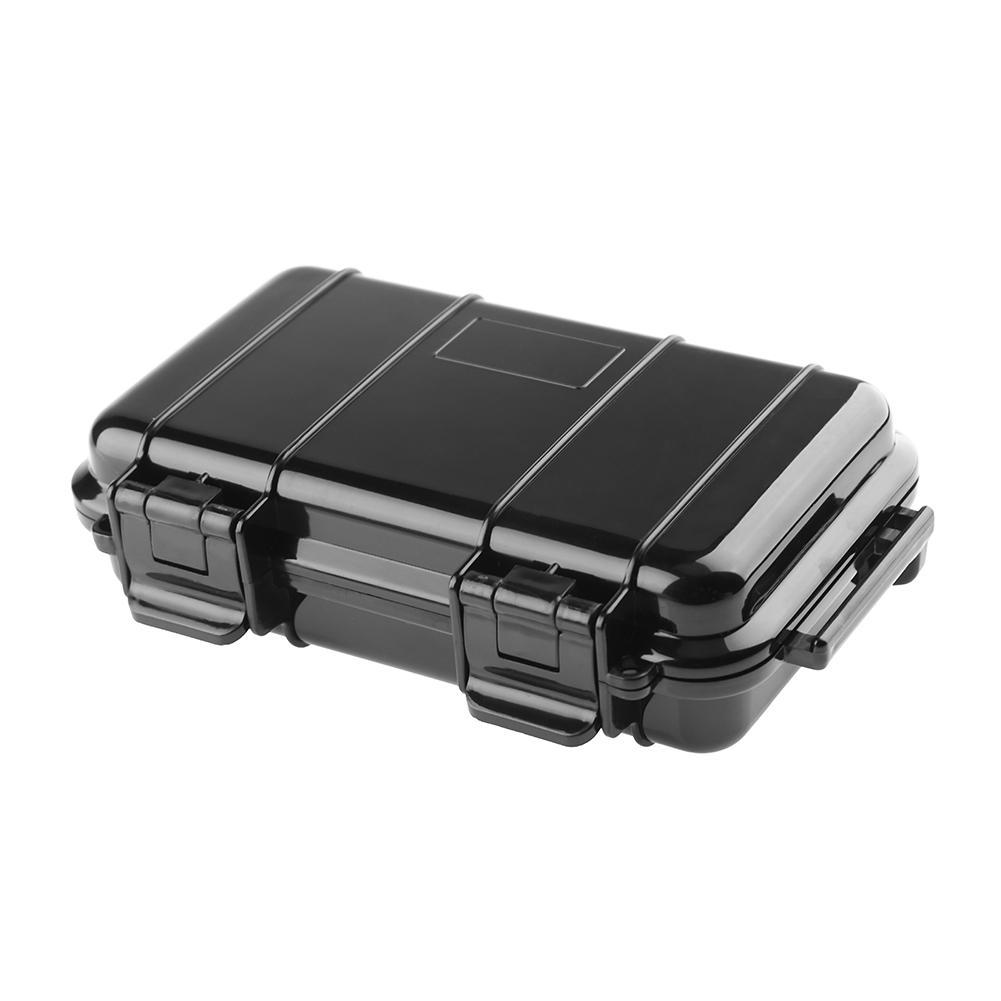 Outdoor Shockproof Sealed Waterproof Safety Case Abs Plastic Tool Dry Box(black)-B - Intl By Rainbowonline.