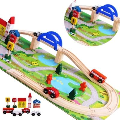With Camera Track Of Car Toy Have Camera Track Of Toy Car Small Train Set Camera Track Wood Building Blocks 3-4-6-Year-Old By Taobao Collection.