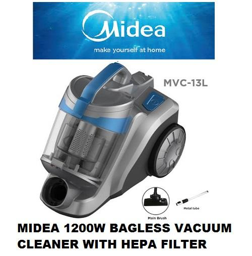 Sale Midea 1200W Bagless Vacuum Cleaner With Hepa Filter Mvc13L 1 Year Warranty Midea On Singapore