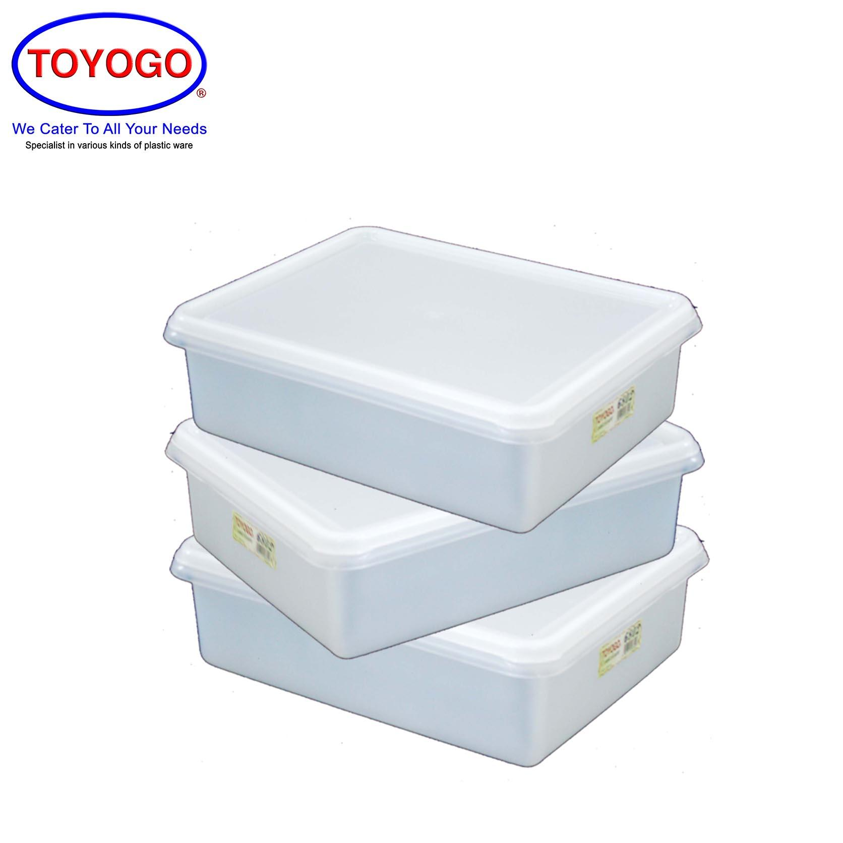 Toyogo Rectangular Container (Bundle of 3) (6802)