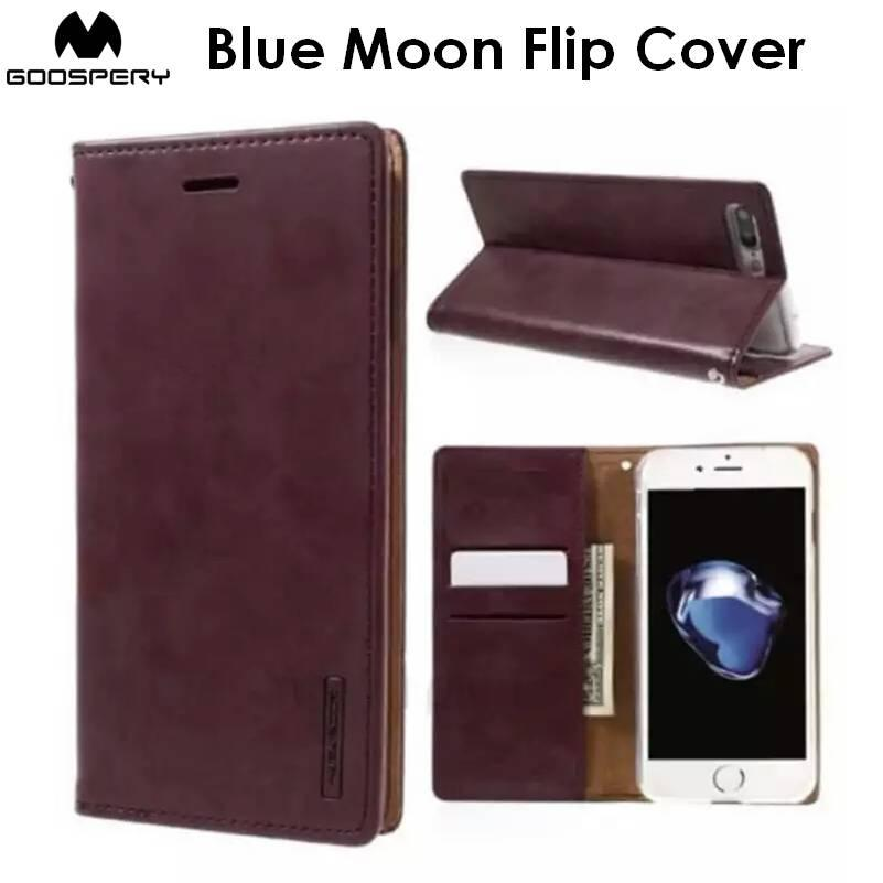 Goospery Blue Moon Flip Cover Case Cases Casing Card Slot Holder For Samsung Galaxy Note 8
