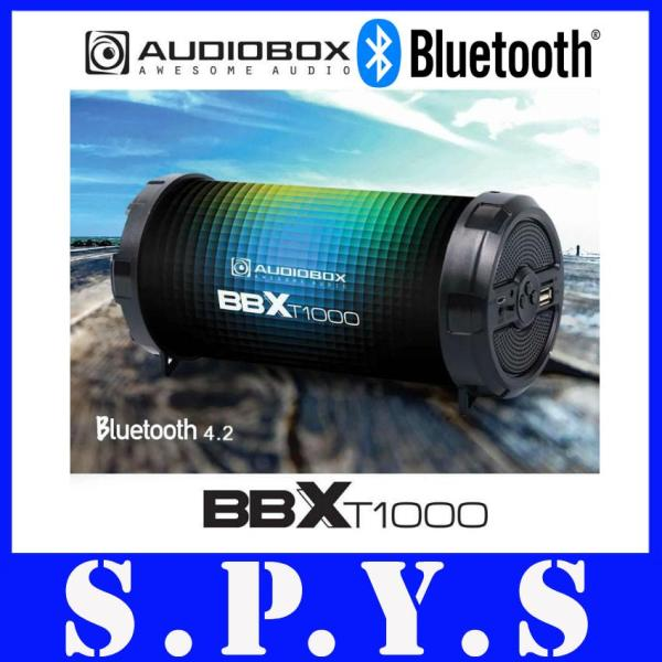 Audiobox BBXT1000 Speaker Portable Rechargeable. Bluetooth, FM Radio, Memory Card Slot, USB Input, Line In Port. Super Loud. 1 Year Warranty. (Lens Flare Design) Singapore