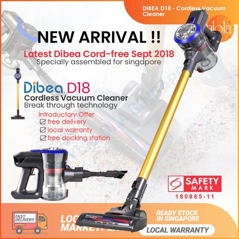 Dibea D18 Cordless Vacuum Cleaner Handheld Stick LED Light Large Capacity Household Appliances With Vacuum Cleaner Brush Singapore