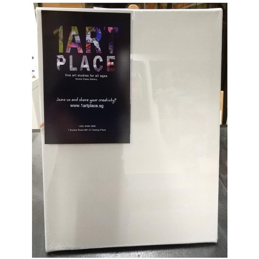 Artist Stretched Art Canvas 30x40cm ~a3 / 380gsm / 100% Cotton For Oil & Acrylic / 1.7cm Thick Frame / Medium Texture / Acid Free / Primed By 1 Art Place Sg.