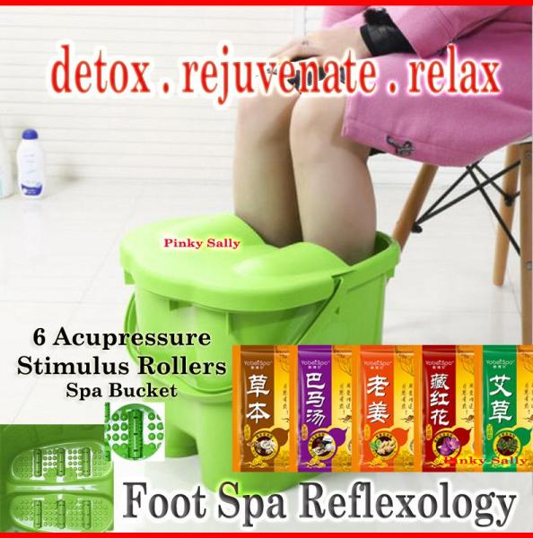 Buy Foot Spa Bucket 6 Acupressure Roller - Tall Blue Singapore