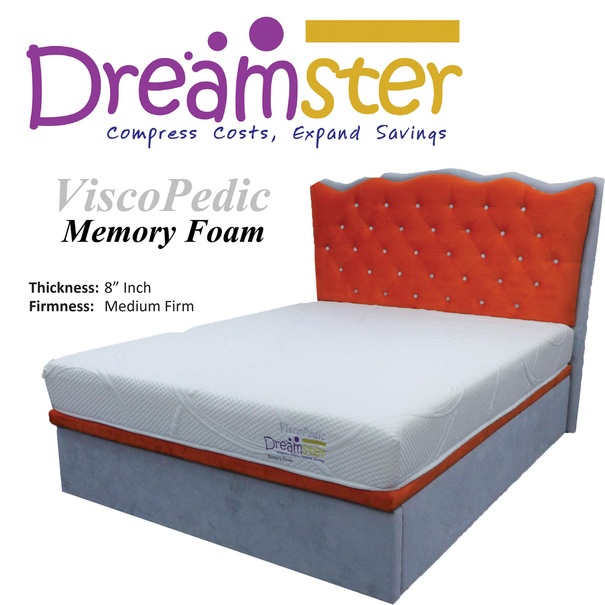 NNDESIGN Dreamster ViscoPedic 8inch Memory Foam Mattress - (Queen Size)