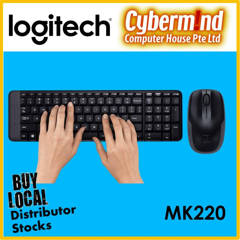 (Popular Choice!) Logitech MK220 Wireless Combo (Keyboard and Mouse) (Local Distributor Stocks) Singapore