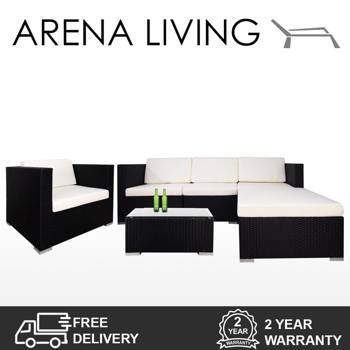Compare Price Arena Living Summer Outdoor Modular Sofa Set Ii White Cushions On Singapore