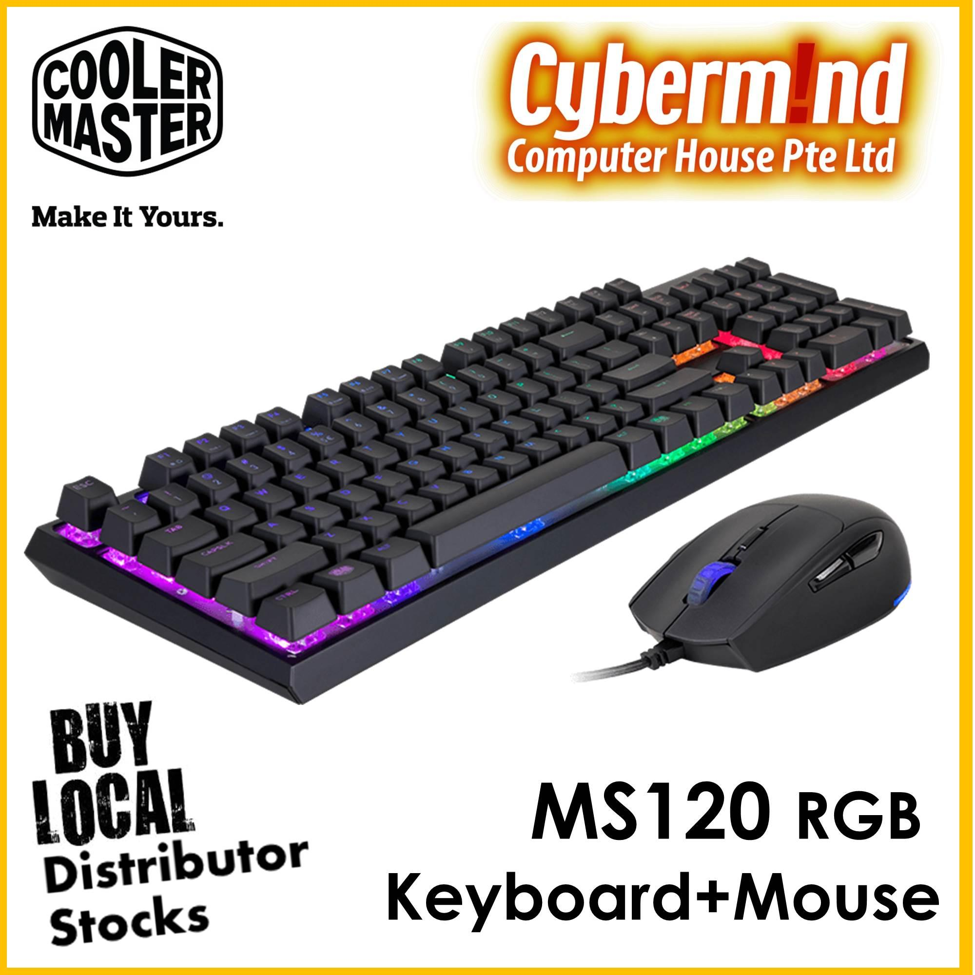 CoolerMaster MasterSet MS120 RGB Keyboard + Mouse combo 16c0d69ddc8f4