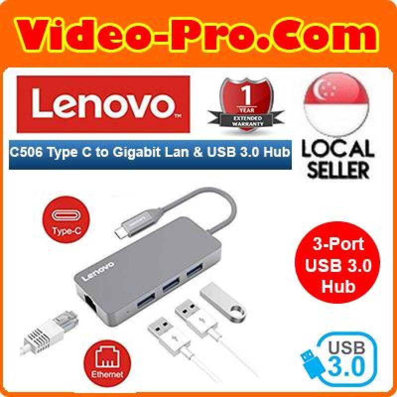 Lenovo C506 USB Type C To RJ-45 Gigabit Ethernet Lan and 3Ports USB 3.0 Hub