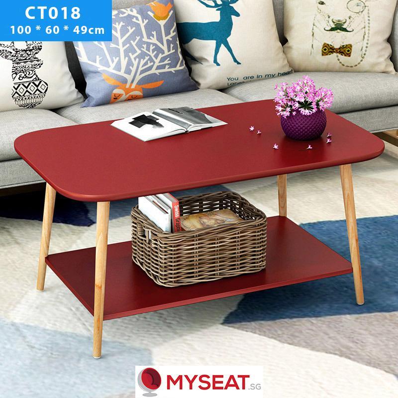 Minimalist Table with Bottom Shelf