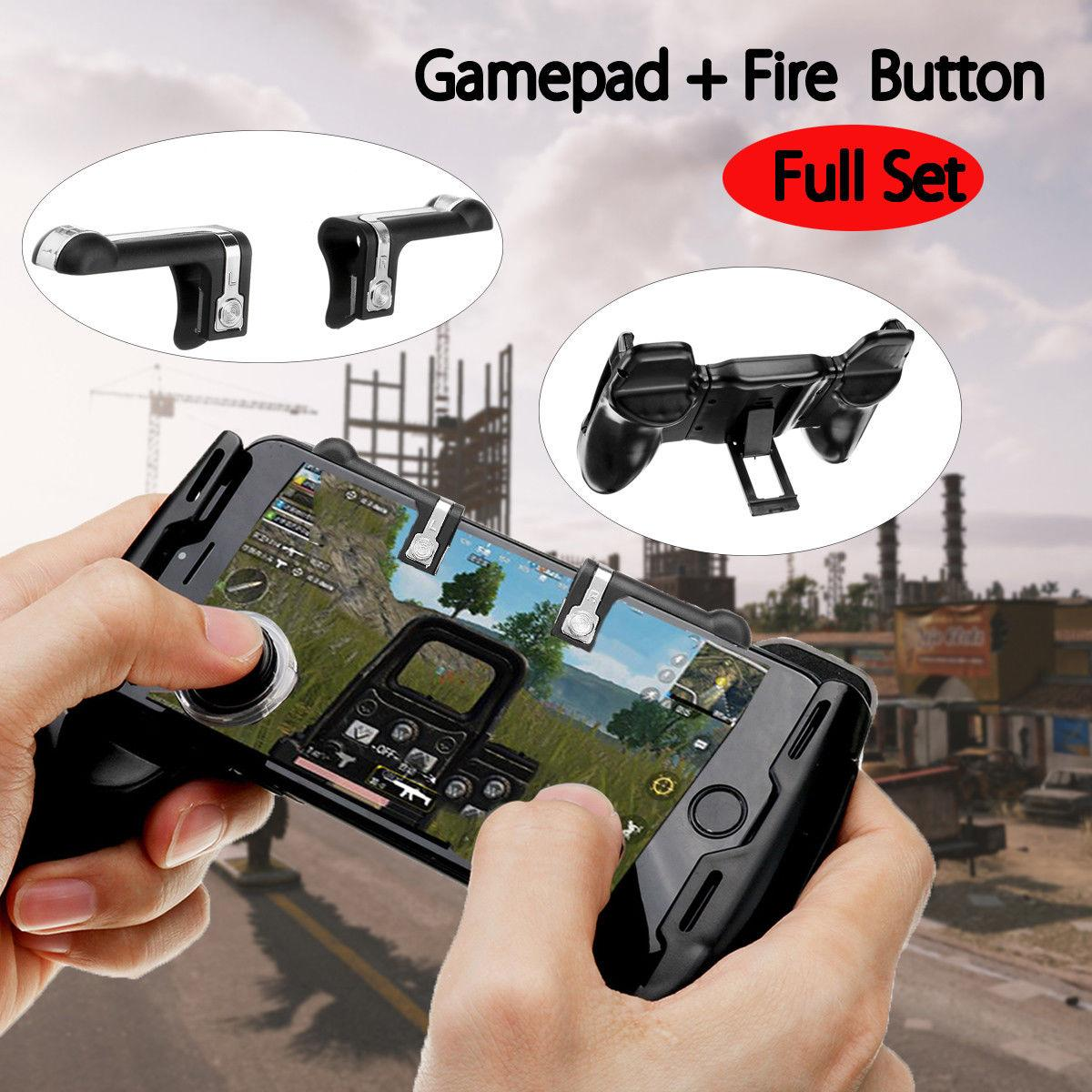 V6.0 L1r1 Sharpshooter Gaming Trigger Fire Button Aim Key Phone Shooter Controller Pubg + Gaming Joystick Handle Holder Controller For Games On Iphone And Android By Wripples.