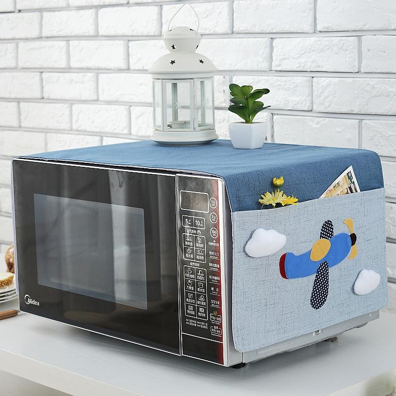 Microwave Dust Cover Fabric European Style Microwave Oven Cover Gai Jin Oven Case Korean Style Waterproof Oil Resistant Kitchen Universal By Taobao Collection.