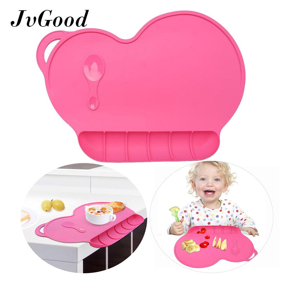 Jvgood Kids Silicone Placemat Slip Resistant Baby Toddler Plate Table Mat Portable Bpa Free By Jvgood.