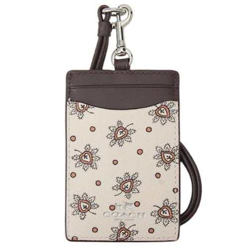 Coach Id Lanyard In Forest Bud Print Coated Canvas Silver Chalk Multi F11850 Gift Receipt Compare Prices