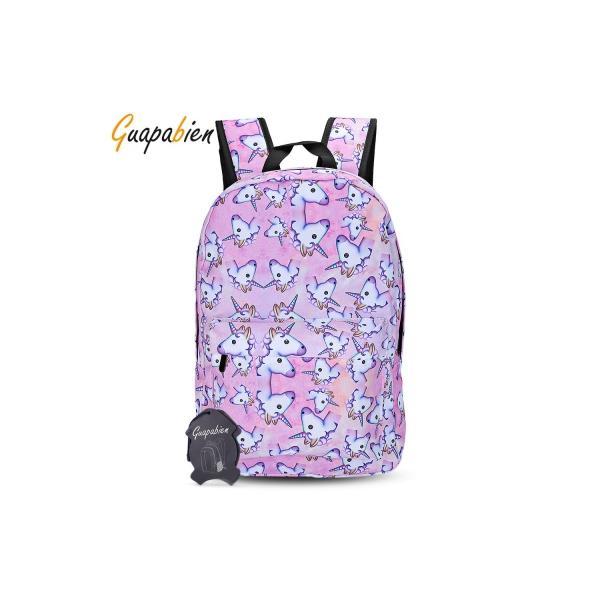 Sale Guapabien Travel Girls 3D Unicorn Print Backpack Sch**l Bag On China
