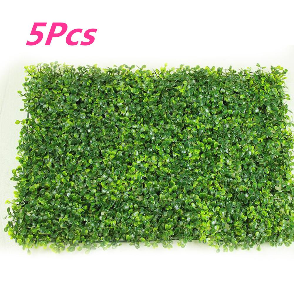 5Pcs/Set Artificial Plastic Milan Grass Plants Wall Lawns as Hanging Greenery Decoration Style:Standard Milan grass green 40 * 60cm