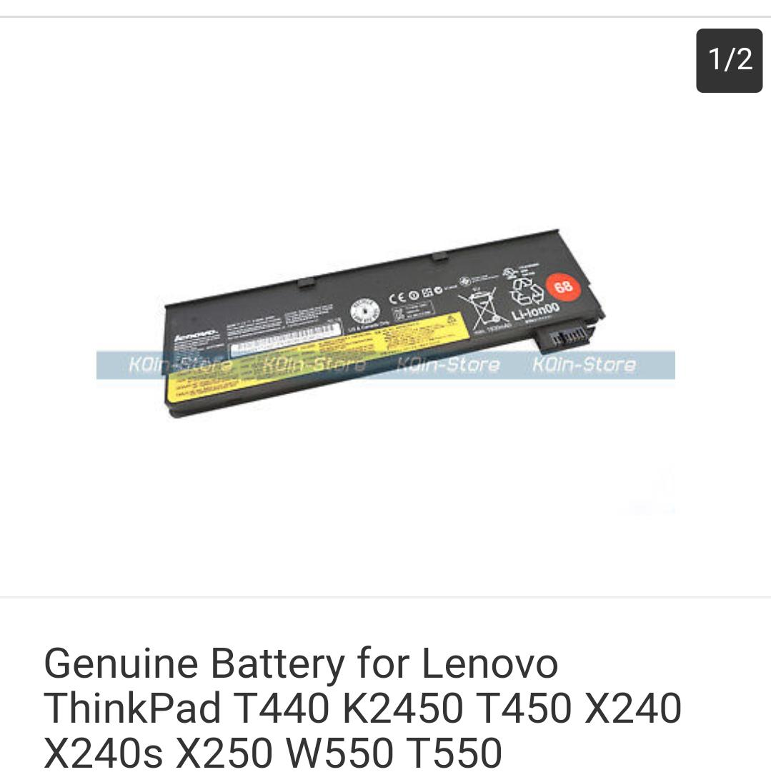 Genuine Battery for Lenovo ThinkPad T440 K2450 T450 X240 X240s X250 W550 T550