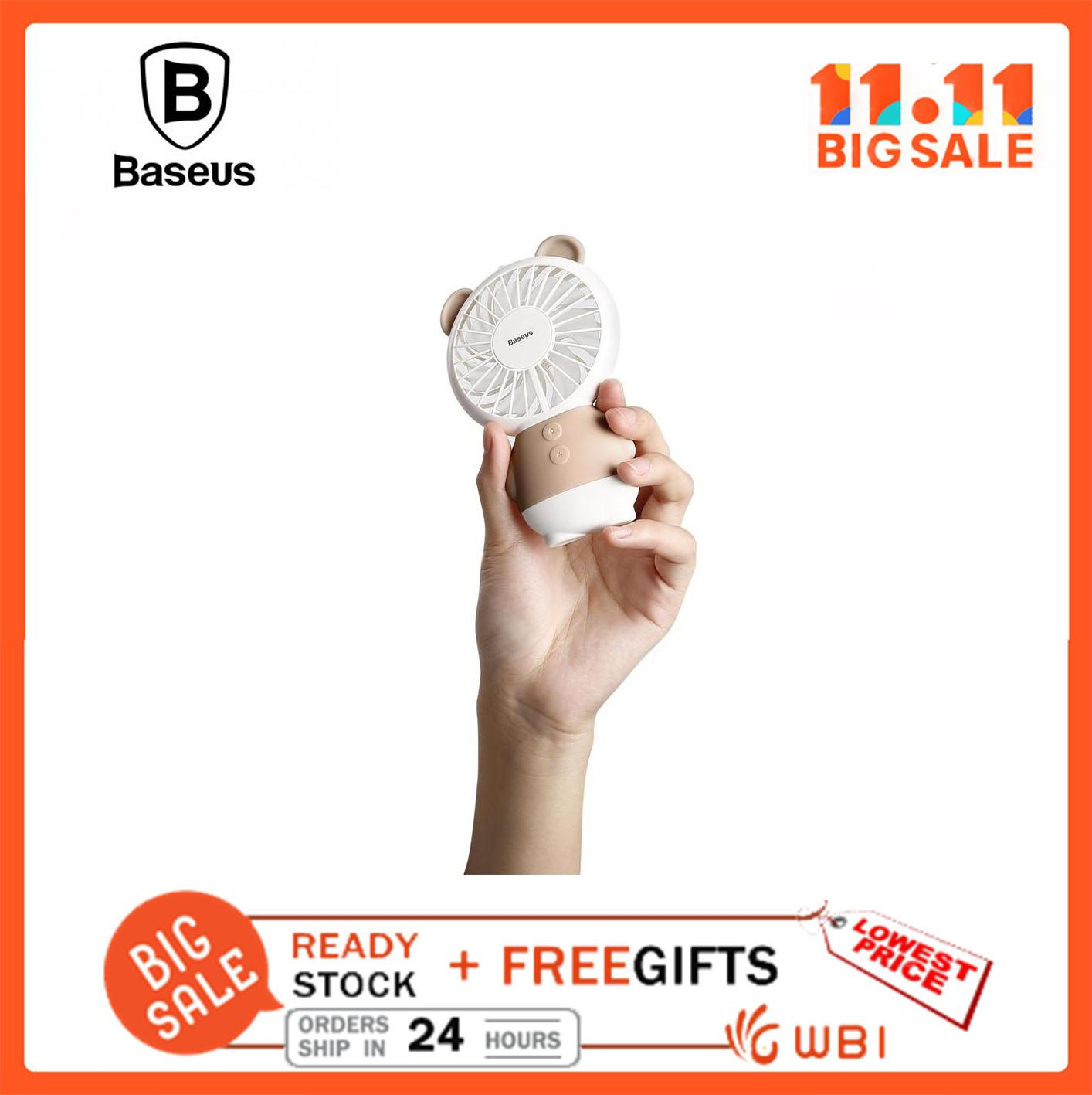 Baseus CXBER Portable USB Mini Handheld Fan Ajustable Rechargeable Quiet Cooling - intl