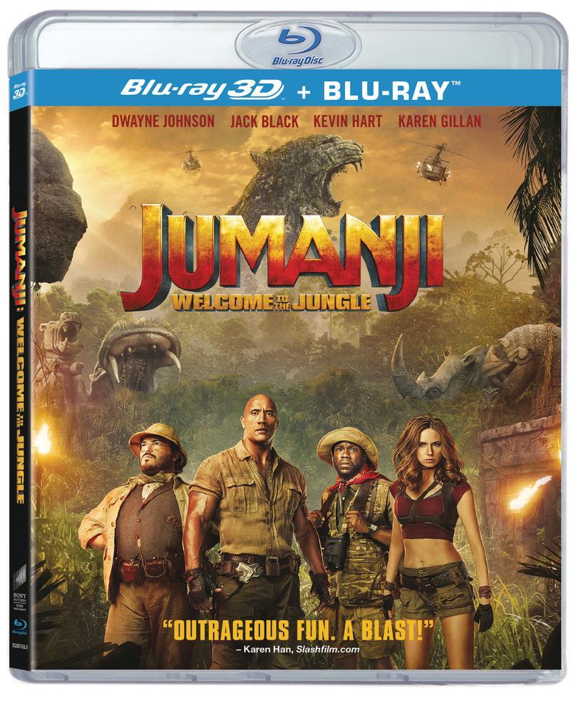 JUMANJI: WELCOME TO THE JUNGLE 3D + Blu-Ray (2D/PG/3DBD)