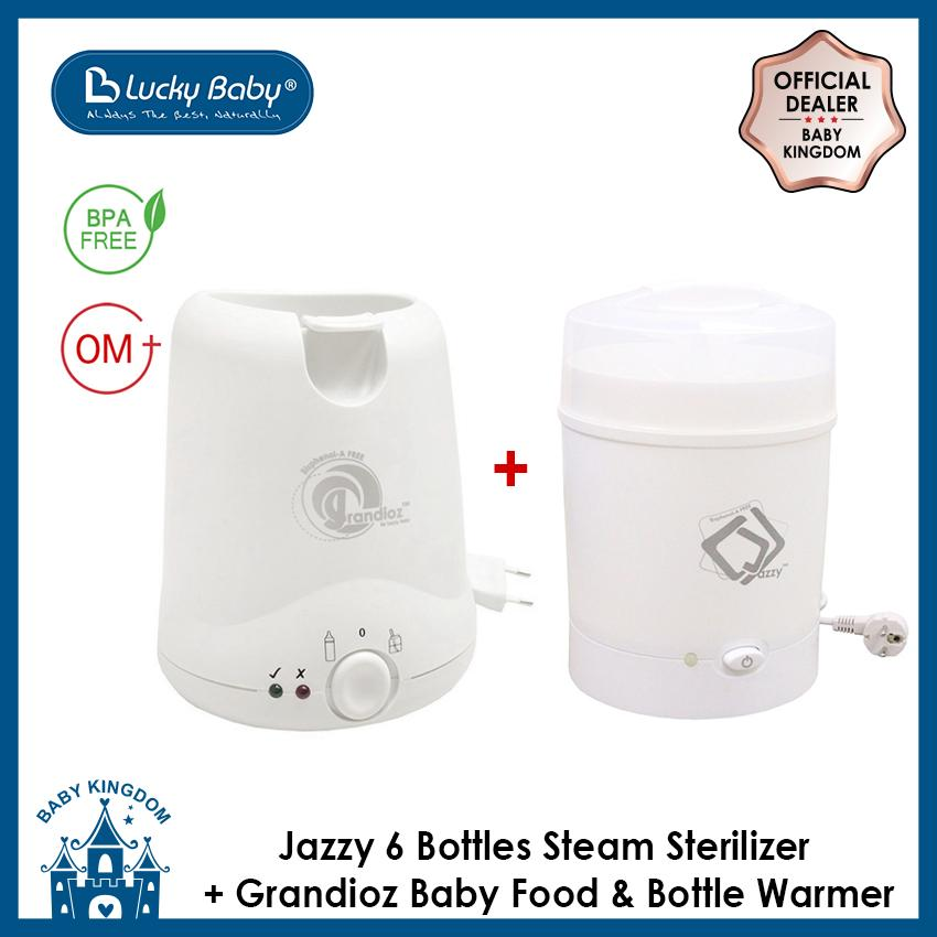 Where To Shop For Lucky Baby Jazzy 6 Bottles Steam Sterilizer Grandioz Baby Food And Bottle Warmer
