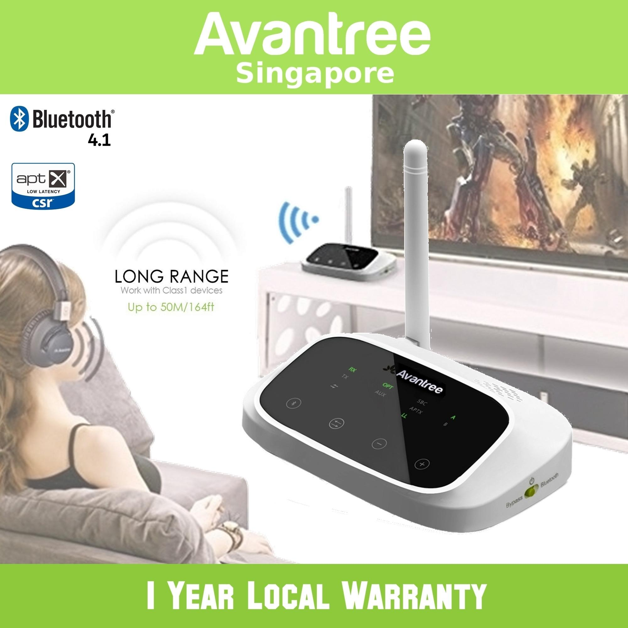 Recent Avantree Oasis Long Range Bluetooth Transmitter Receiver Optical Rca 3 5Mm Bypass Voice Codec Display For Tv All Audio Devices Aptx Low Latency Dual Link