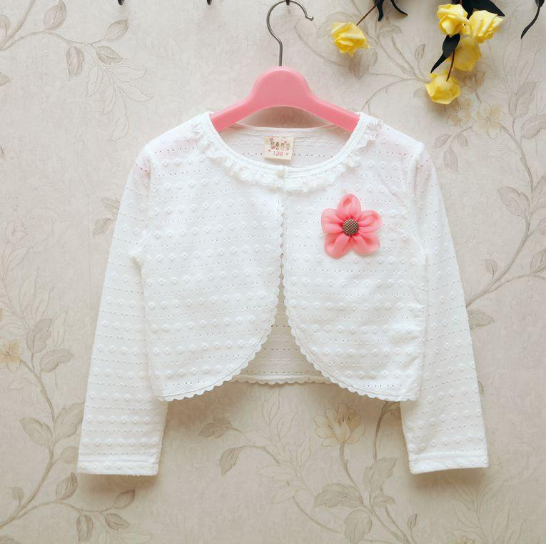 2017 Spring And Summer New Style Children Baby Girls Pure Cotton Hollow Out Long Sleeve Short Jacket Shawl Waistcoat Cardigan By Taobao Collection.