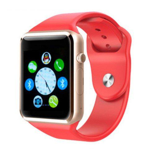 Sale A1 Gu08 Bluetooth Smart Watch Wrist Watch Phone With Sim Card Slot And Smart Health Watch For Smartphones Red Oem Branded