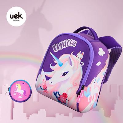 UEK Children Dinosaur School Bag Kindergarten Male Baby Small Backpack 1-34-6-Year-Old Light Girls Tourism Backpack