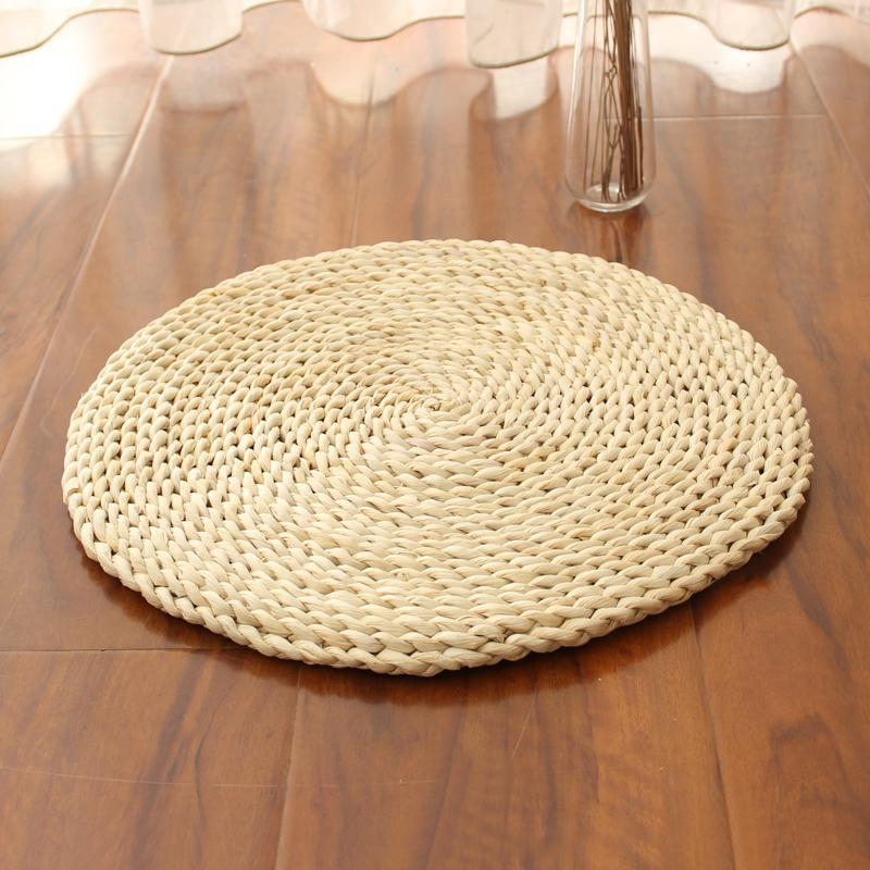 Straw Tatami Futon Meditation throw pillow Thickening Meditation Yoga Buddha Circle Corn Bran Straw Coaster Japanese Style