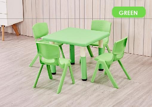 Basic Height Adjustable Children Table /Kids Table/ children table/ dining table/ study table/ single colour