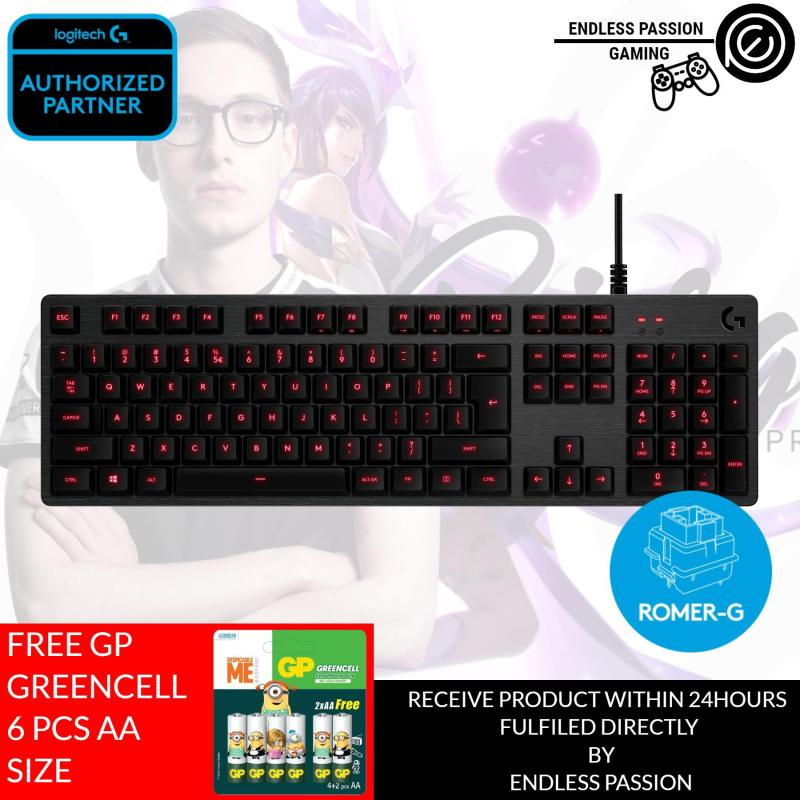 Logitech G413 Backlit Mechanical Gaming Keyboard with USB Passthrough – Carbon Singapore