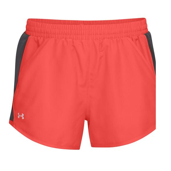 1b5bf43c276 Under Armour FLY BY - Women Shorts (Orange) 1297125-877