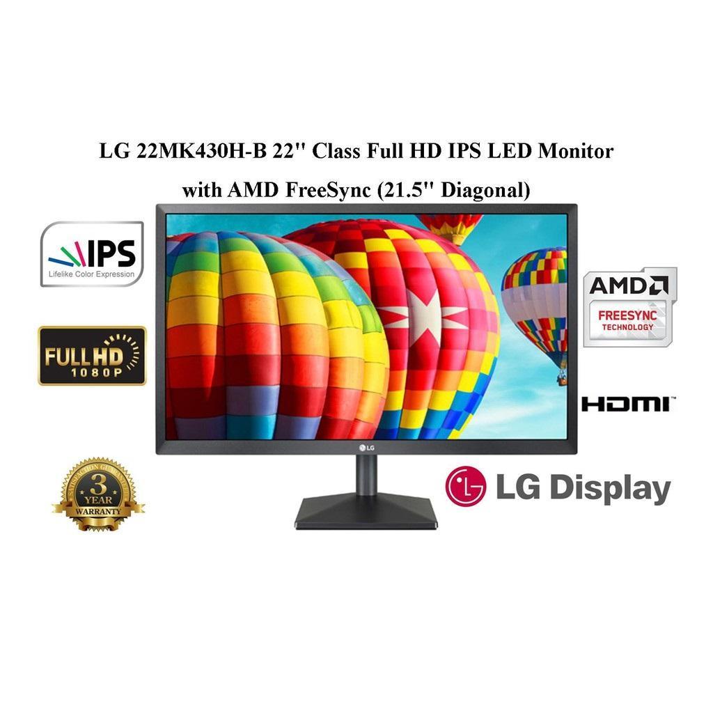 LG 22MK430H 21.5 16:9 FHD 75HZ AMD-FREE-SYNC IPS MONITOR