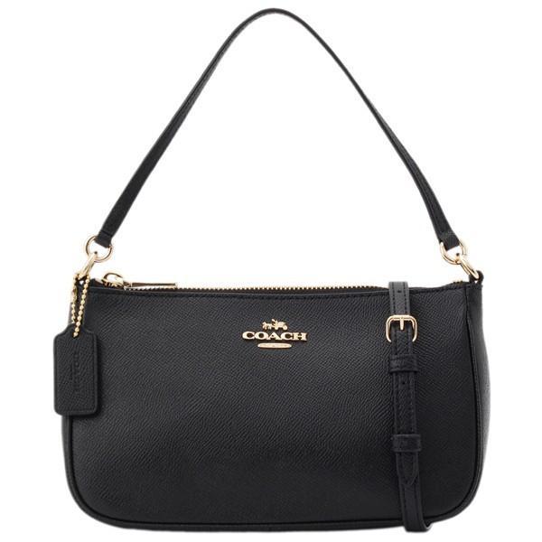 Coach Top Handle Pouch Handbag Light Gold Black F25591 Price