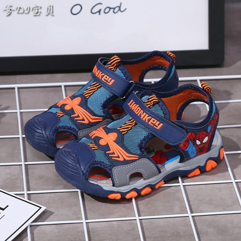 Boys Sandals Big Boy Children Healthy Shoes For Children Anti-Slip Boy Spiderman Childrens Shoes Closed-Toe Shoe 2019 Summer Tide By Taobao Collection.