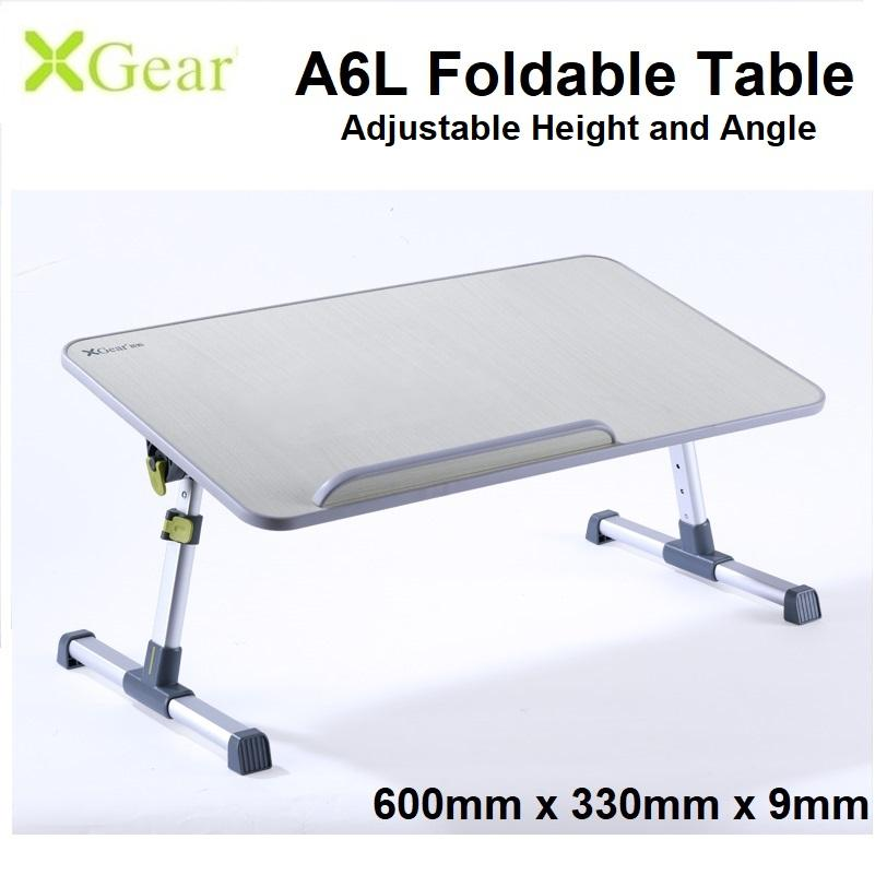 Xgear A6 Large (600 x 330 x 9mm) Foldable Laptop Table Adjustable Height and Angle