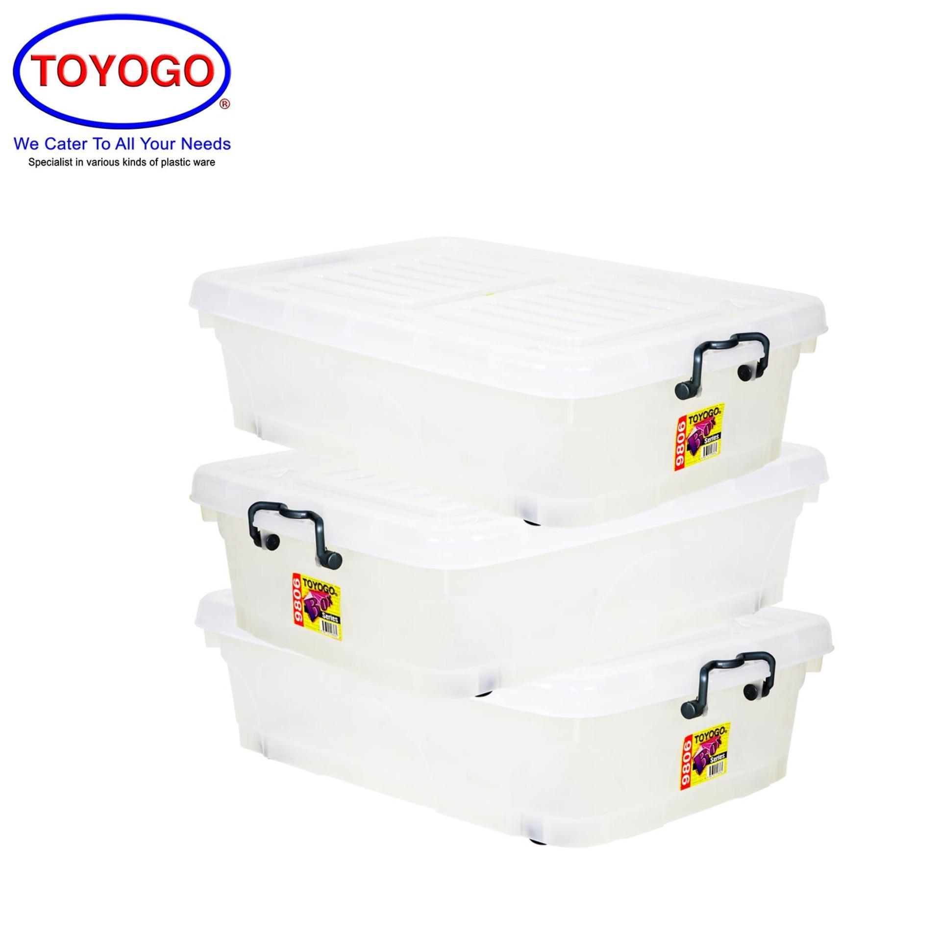 Toyogo Storage Box With Wheels (Bundle of 3) (9806)