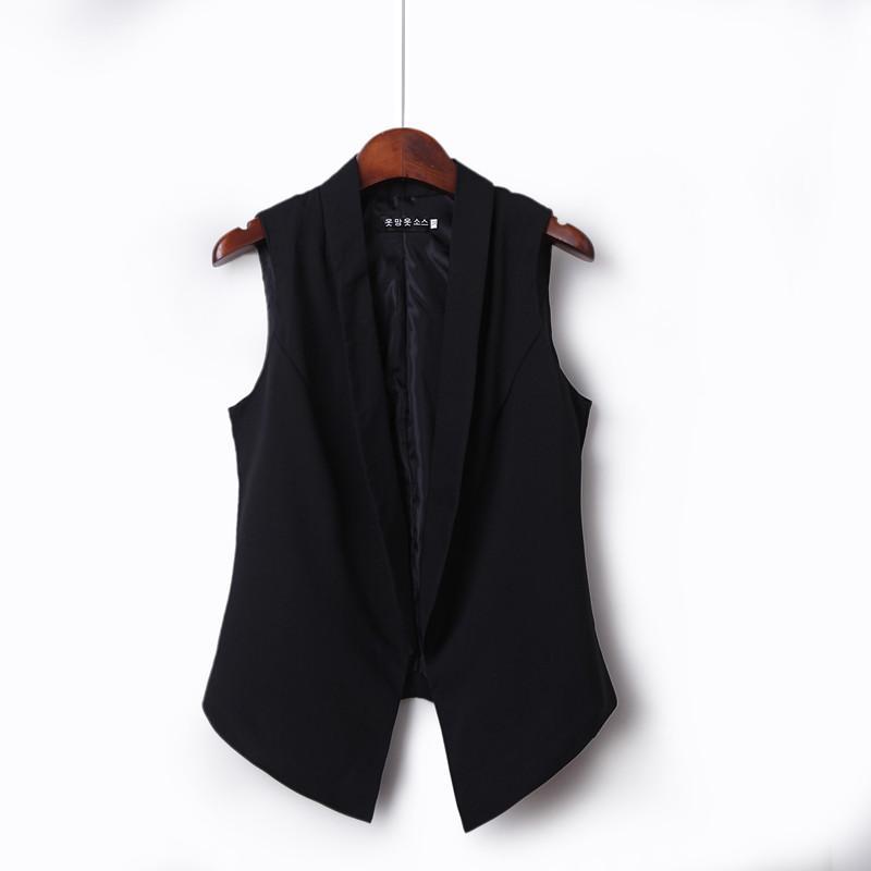 15a2084d875 Short Waistcoat Summer Female Korean Style Lapel Collar Slim Fit Slimming  Waistcoat Versatile Fashion Waistcoat Vest
